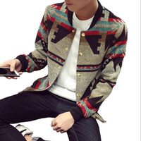 Wholesale Mandarin Coat - Wholesale- Bomber Jacket Men Jacket Coat Winter casual mens jackets and coats casaco masculino cortavientos hombre 2017 National Style