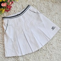 Wholesale Girl Clotes - Wholesale- Women Tennis Sports Skirt Fitness Gymnastics Badminton Skort Authentic Sports Clotes Pleated Skirts for Girls with Safety Pants