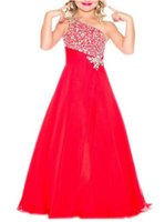 c5ab09272e3 Child One Shoulder Birthday Party Red Special Occasion Ball Gowns Flower  Girls Hlater Sequined Dress Kids Long Pageant Dresses