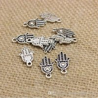 Wholesale Protection Necklaces - 100pcs Charms hamsa palm protection 20*12mm handmade Craft pendant making fit,Vintage Tibetan Silver,DIY for bracelet necklace CP243