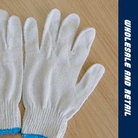 cotton yarn special gloves - Thickening of the wear resistant industrial cotton yarn knitted gloves special white level labor insurance gloves