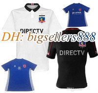Wholesale University Blue Shirt - Top Thai quality 16 17 Chile CD Colo Colo Home white soccer jersey 2016 Chile University Chile Club VALDIVIA CANALES HERRERA FOOTBALL SHIRT