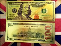 Wholesale Special Usa - USA 24K Gold Foil New $100 Colorful Dollar Movie Props Money Banknotes Special Creative Art Collectible Gifts Holiday Home Decoration Crafts