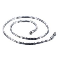 Wholesale grace boxes - Meaeguet Grace and elegant men women necklaces box chain clavicle chain 24inch long stainless steel chain high quality NC-033