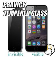 Wholesale Protection Films - For Iphone X Iphone 8 Privacy tempered glass invisible private protection screen protector film for Sumsung galaxy s7 0.26mm 9h antiy spy