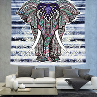 Wholesale 130 cm Indian Mandala Beach Towels Bohemia Beach Towel Shawl Sandy Picnic Mat Blanket Elephant Wall Hanging Tapestry Tablecloth