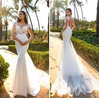Wholesale White Dress Design Wedding Muslims - chapel train cap sleeves sheath wedding dresses 2017 crystal design bridal sweetheart neckline low back long train