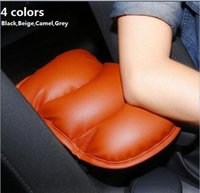 Wholesale Ford Mustang Car Cover - 2017 Car Leather Central Armrest Console Pad Cover Cushion Soft for Ford Edge Escapre Expedition Explorer F-150 Fiesta Focus Fusion Mustang