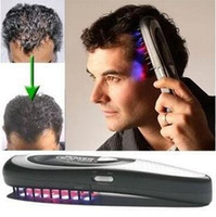 Wholesale Laser Treatment Power Grow - Power Grow Laser Comb Kit Regrow Hair Loss Therapy Cure Hair Loss Laser Treatment Comb CCA6334 100pcs