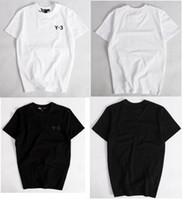 le lycra des hommes t achat en gros de-Summer New Mens Tshirts Tops Tees 100% Coton O Neck Manches courtes T Shirt Femmes Hommes Mode y 3 Tendances Sportwear y3 Tshirt