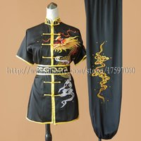 Wholesale Chinese Clothes For Boys - Chinese wushu uniform Kungfu clothes Martial arts suit taolu outfit Routine garment changquan kimono for men women boy girl kids adults