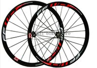 Wholesale Cheap Carbon Fiber Bicycles - free painting wheel 38mm 23 25mm width clincher carbon fiber Powerway R36 hub road bicycle wheels UD 3K 700c cheap bicycle parts