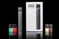 Wholesale E Cigarette Stater Kits - e cig juul vape pen stater kit high quality clone juul pods with 4 Flavors or Empty Cartridges Electronic Cigarettes Disposable