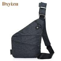 Wholesale Mini Sling Bags - Casual Mens Shoulder Bag Burglarproof Travel Chest Pack Male Messenger Bag Multifunctional Men's Crossbody Bags Nylon Sling Bag