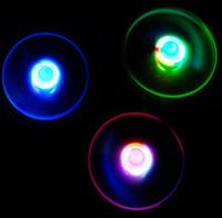 Wholesale Night Flying Toys - kids gift toys pull wire flash luminous flying toys 25 cm 3 colors random LED light UFO children night fun