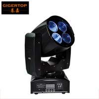 Wholesale 55w Led Head Light - gigertop Sample 4*10W Mini Led Moving Head Super Beam Light Rotating Lens Prism Gobo Effect DMX 512 Control 4 16CH 55W 90V-240V