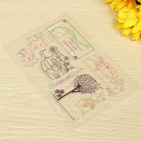 Wholesale Hand Glass Ornaments - Wholesale- KiWarm 1pc Flowers Birds Silicone Transparent Stamps Seal Ornaments For Scrapbook Photo Album Card Hand Account Decor DIY Supply