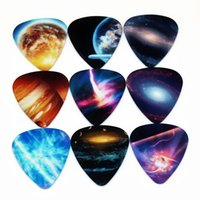 Wholesale Earrings Mixed Design - 10pcs 0.71mm Universe Planet two side earrings pick DIY design Guitar Accessories pick guitar picks