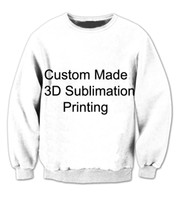 Wholesale Custom Printed Fleece - REAL USA size Custom - Create your own - 3D Sublimation print Sweatshirt Crewneck - Plus Size 4XL 5XL 6XL