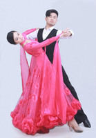 Wholesale foxtrot clothing for sale - 2018 Sexy dress modern adult diamond embroidery Waltz Tango Foxtrot quickstep costume competition clothing standard ballroom dance skirt