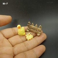 Cute Mini Duck Fence Resin Crafts Scene Model Toy Acessórios Paisagem DIY Toy Kid Perceive Educational Prop