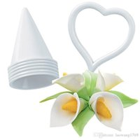 Wholesale Lily Cutter - Calla Lily Flower Cake Decorating Craft Fondant Icing Tool Mold Plunger Cutters ZH851