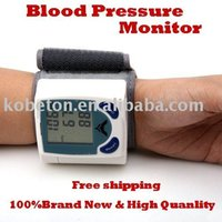 Wholesale Portable Heart Monitors - Portable Home Digital Wrist Blood Pressure Monitor Heart Beat Meter Sphygmomanometer with LCD Display