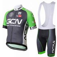 Wholesale Cycling Pants Jersey Set - 2017 GCN Cycling Jerseys Set Bike pro Team Clothes Bicycle Wear Pad GEL shorts Summer Cycling shirt Bib None Bib Pants D1202