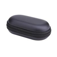 usb tragbares ladegerät für handy großhandel-Großhandels-, Elliptische EVA Fälle Portable EVA Kopfhörer Aufbewahrungskoffer für Handy USB-Ladegeräte Kabel Kopfhörer Mp3 Mp4