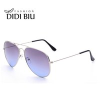 Wholesale Military Pilot Aviator - DIDI Lovers Rainbow Sunglasses Women Brand Designer Military Aviator Glasses Thin Frame Eyewear Gradient Color Shades Gafas W472