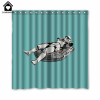 Wholesale CharmHome Novelty Bathroom Products Star Wars Printed Waterproof Polyester Shower Curtain Bath Curtain X180CM