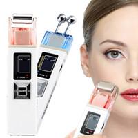 nueva máquina de cara de piel al por mayor-Nueva Microcorriente ION Galvanic Skin Reafirmante Máquina Iontoforesis Masajeador facial Spa Salon Device Blanqueamiento de la piel Reafirmante Salon Equipment