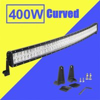 Wholesale Led Light Kits For Boats - 52 inch 400W Led Light Bar Curved Combo Beam Work Light For Offroad Truck Jeep Boat Trailer 4x4 ATV SUV 9-32V Auto Lamp (without Wiring Kit)
