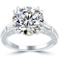 Wholesale Natural Round Certified Diamonds - 6.60 I-SI1 Certified Natural Round Diamond Engagement Ring 18k White Gold