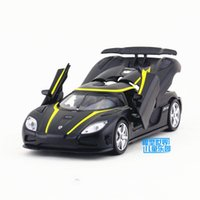 Wholesale Scale Koenigsegg Agera Racing With Sound and Light Car Diecast Educational Pull back toy For Children s gift