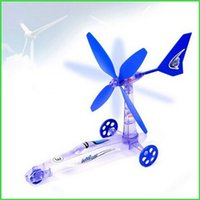Wholesale Wind Car Toy - Wholesale- Children's Educational Diy Wind Energy Power Car, Scientific Experiment Toys