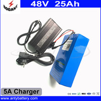 Wholesale lithium battery 48v 25ah resale online - US EU Free Customs Duty High Power W eBike Battery V Ah Cell With A Charger A BMS V Lithium Battery Pack