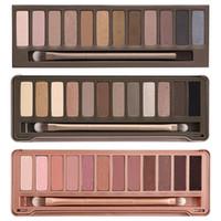 nouvelle palette d'ombres à paupières 12 couleurs chaude achat en gros de-2017 HOT new Makeup Eye Shadow NUDE palette de fards à paupières 12 couleurs 15.6g Haute qualité NUDE 1.2.3. DHL Livraison gratuite + CADEAU