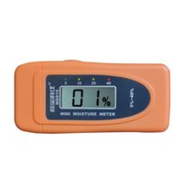 Vente en gros- Nouveau MD816 Mini 2Pins LCD Bois Bamboo Cotton Moisture Meter Tester Timber Damp Detector