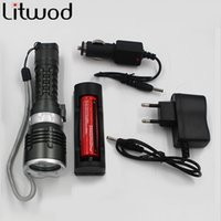 Wholesale Diver Professional - Led Diving Flashlight High Brightness XM-L L2 5000 lumens diving torch Professional Diving linternas Waterproof for Swimming