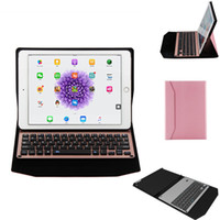 legierungstastatur großhandel-Bluetooth 3.0 Version Wireless Alloy Keyboard Ledertasche für Ipad Pro 12.9