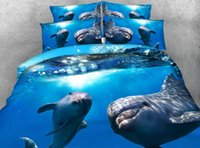 Wholesale Dolphins Bedding - Wholesale- Amazing Dolphins under the sea Hd digital print 3d Animal bed set