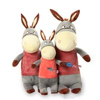 Giant Lovely Stuffed Peluche Donkey Toys Big Soft Animal Cartoon Donkey Doll pour enfants Cadeaux 2 couleurs