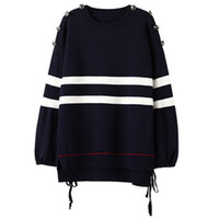 Wholesale Code Sweaters - 2017 autumn and winter Europe and America new type large code set head coat loose sweater