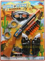 Wholesale Toy Dart Rifles - COMPLETE COWBOY SET TOY GUN PISTOL REVOLVER WILD WEST SOFT DART RIFLE SHOTGUN