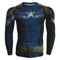Wholesale Marvel Sweatshirt Top - Wholesale-Marvel 3D sweatshirt Superhero Long Sleeve Amour Compression basic Fitness 3d hoodies clothing Cool man tops crewneck sudaderas