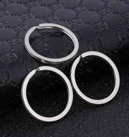 anéis chaves lisos venda por atacado-1.7x28mm Chaveiro de Metal Chaveiro para Chaves Do Carro Cadeia Rodada Dividir Moda Plana Chaveiro Chaveiro Encantos Presentes Por Atacado para Mulheres Acessórios