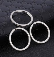 Wholesale Split Rings For Charms - 1.7x28mm Metal Key Ring Keychain for Car Keys Chain Round Split Fashion Flat Keyrings Keychain Charms Wholesale Gifts for Women