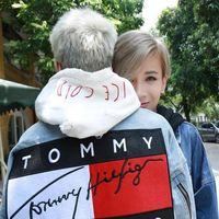 Wholesale Denim Jackets Hoodie Women - Tommy Jeans Jacket Hoodies American Style Fashion Men's Skateboard Hoodie Trend Sweatshirts Denim Casual Jackets Women Hip-Hop Loose Coat