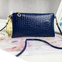 Wholesale Mini Bag New Candy - Wholesale- Summer New Fashion Mini Women Messenger Bags 2016 Brand PU Crocodile Pattern Retro Women Bag Candy Color Crossbody Shoulder Bag